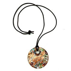 Murano Glass Millifiori Metallic Bronze Necklace